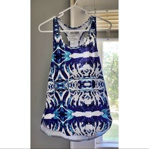 Blue and White Tank